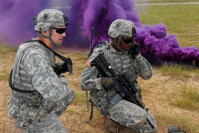 Live fire exercise at the Georgia Garrison Training Center