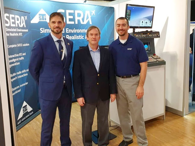 From left to right, Víctor García, Business Development Director of Simloc, Steve Euerle and Tyler Onufer, of ASTi at EATS 2019.