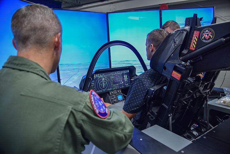F-35 simulator by A1C Taylor Solberg
